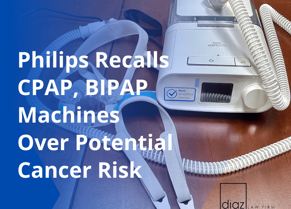 Philips Recalls CPAP, BIPAP Machines Over Potential Cancer Risk